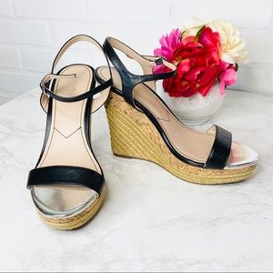 Charles David Espadrille Wedge Strappy Shoes EUC